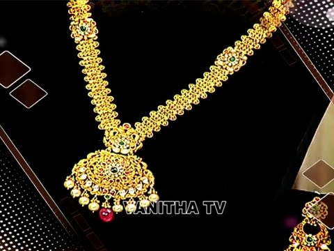 Latest Antique Gold Kundan Long Haram Designs