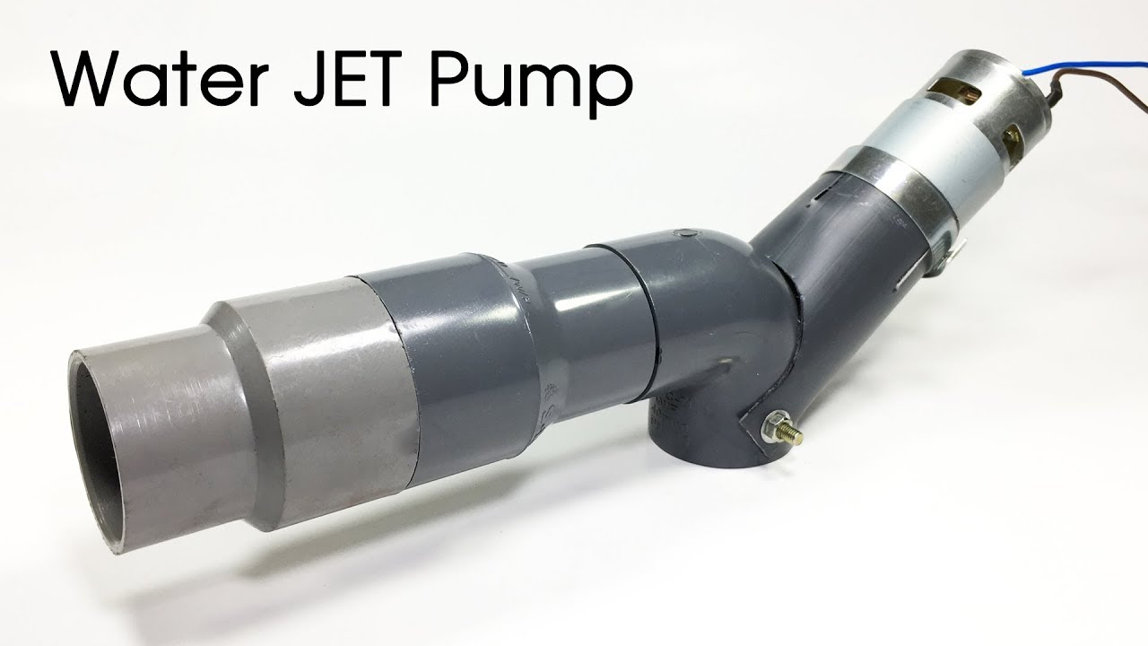 How To Make A Jet Pump Water Thruster Diy Turbo Jet Pump For Rc Boat Sea Scooter Youtube