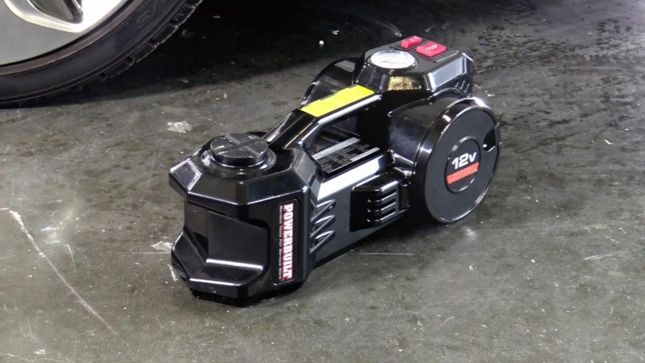 toolsmithdirect powerbuilt 2 in 1 12 volt electric floor jack and tire inflator 1 ton 620484 rakuten com [ 1280 x 720 Pixel ]