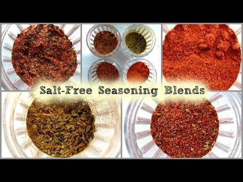 How To Season Your Food // Salt-Free Seasoning Blends // Homemade && Easy