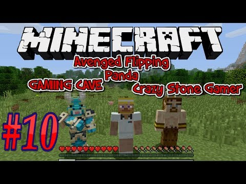 let's play Minecraft #10 with gaming cave and crazy stone gamer