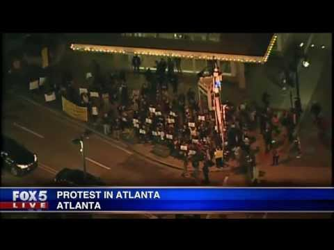 Protests in Atlanta over NYC chokehold death