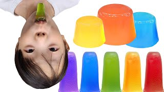 Make a Neh Boo Jelly Mukbang AliceWorld 색깔 메롱 젤리 먹방 메롱 젤리 만들기 앨리스월드