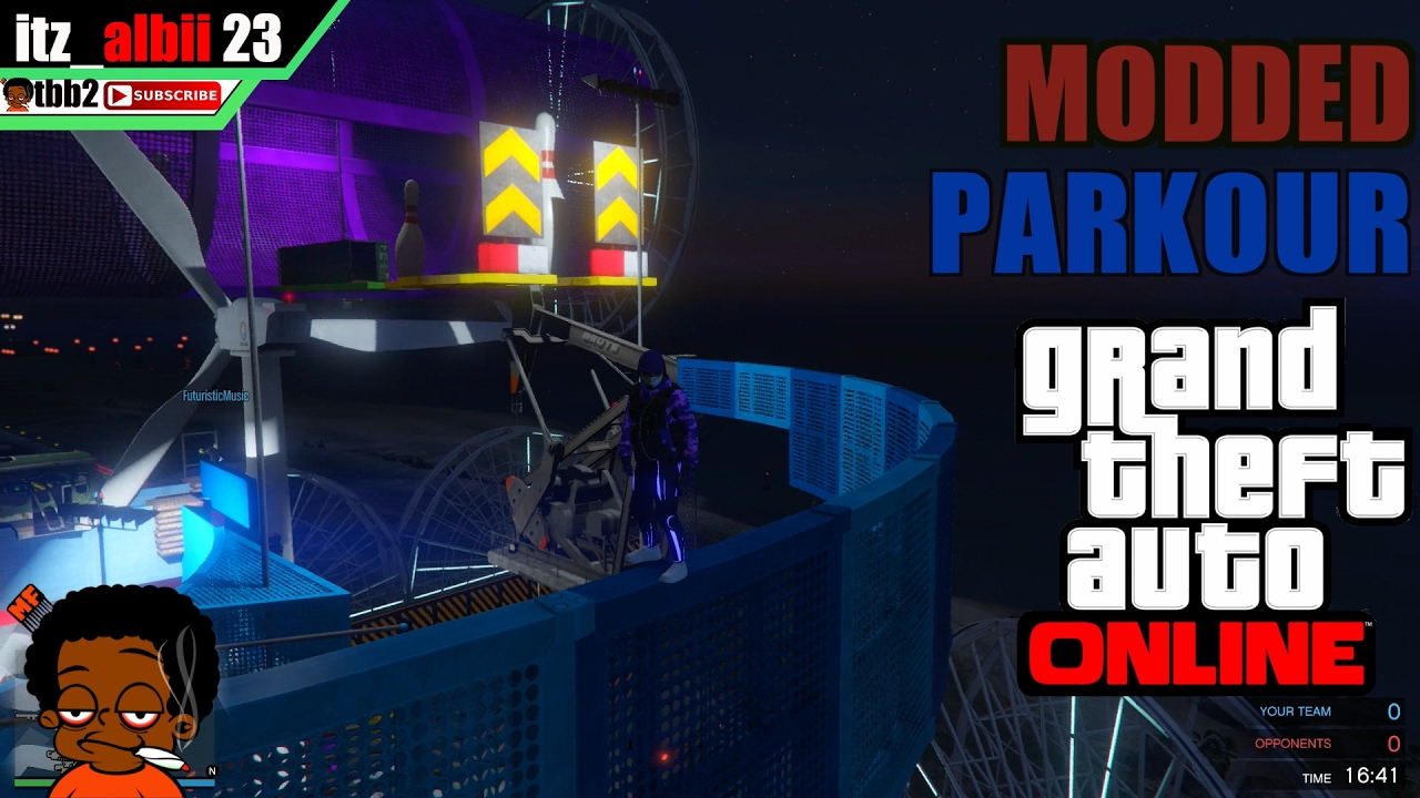MODDED PARKOUR WITH CREW-GTA V ONLINE PS4 - YouTube