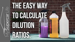 How to Calculate Dilution Ratios for Detailing Products