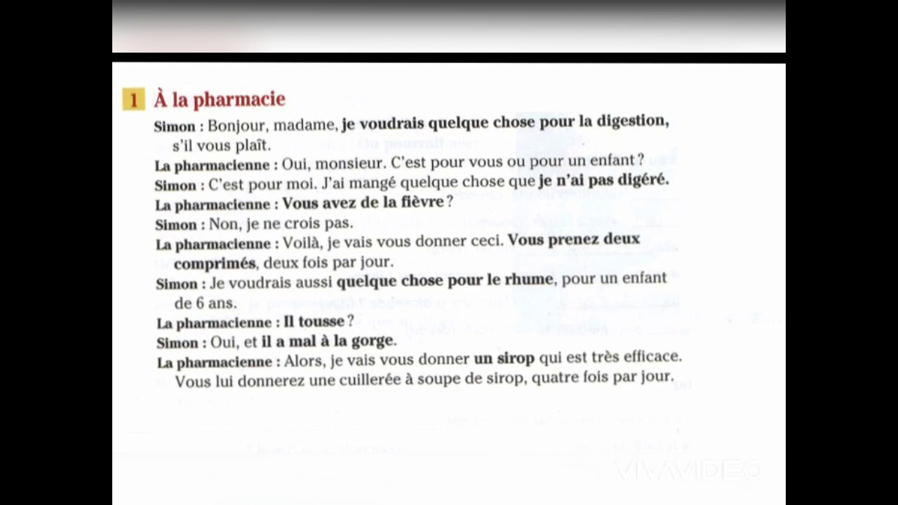 Download Dialogue at the pharmacy in French || Learn how to ask for medicine at the pharmacy with vocabulary