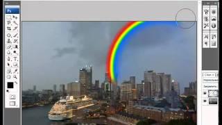 Уроки Photoshop (Добавление радуги на фото).mp4