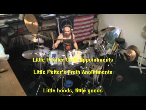 ZAPPA-BEEFHEART-POOFTERS FROTH WYOMING PLANS AHEAD- drum cover-with lyrics