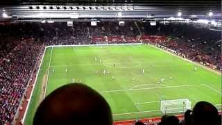 Stretford End ATMOSPHERE Manchester United - WBA chants Kicking a blue, United Calypso, Busby Boys