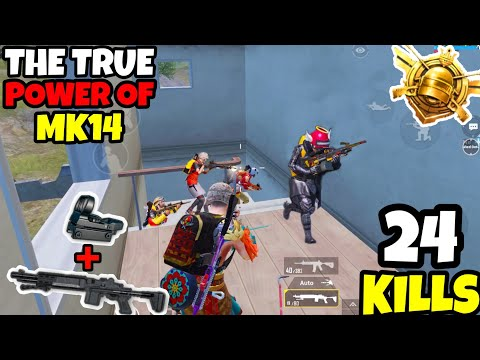 This is What Happens When You Use The TRUE Power of Mk14 in PUBG Mobile • (24 KILLS) • PUBGM (HINDI)