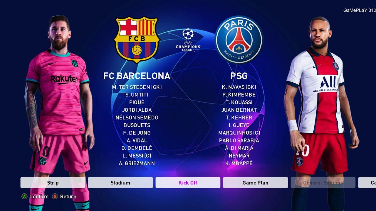 PES 2020 - Barcelona vs PSG - UEFA Champions League UCL ...