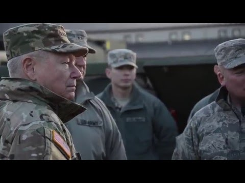 Gen. Frank Grass visits MO Guard during historic flooding
