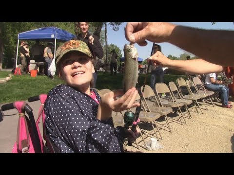Disabled Kids Learn To Fish At Annual Salem Fishing Day - Salem Pond, UT