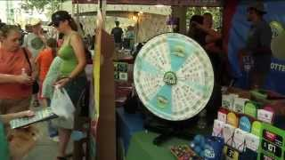 Colorado Lottery at Taste of Colorado 2011 - Tickets were flowing and the prize wheel was spinning at the Taste of Colorado!