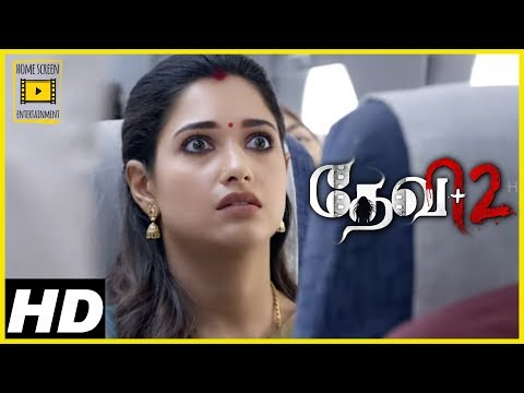 Devi 2 Tamil Movie Scenes | Tamannaah boards flight with Prabhu Deva | Prabhu Deva vanishes