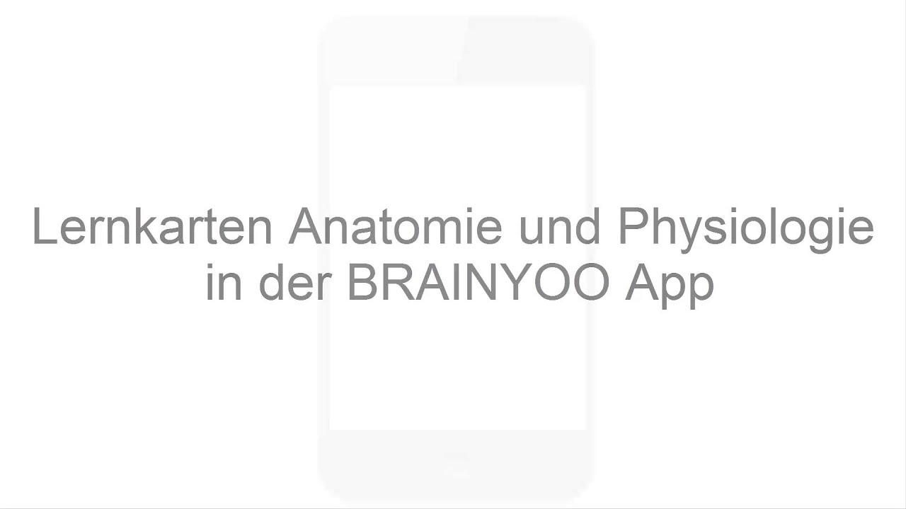 Digitale Lernkarten Anatomie und Physiologie mit BRAINYOO für die ...