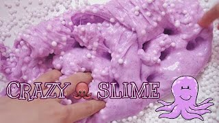 CRAZY OCTOPUS SLIME TUTORIAL - MIXING & FEATURING 2 SLIME KIT