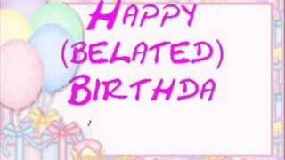 Happy (belated) Birthday
