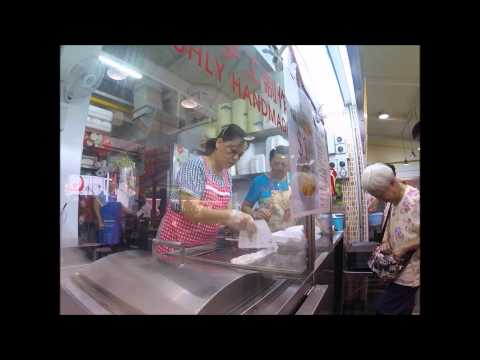 Handmade Rice Noodle Roll Chee Cheong Fun Hawker Centre Singapore