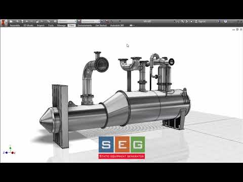 3D Modeling for pressure vessel Using SEG and Autodesk Inventor