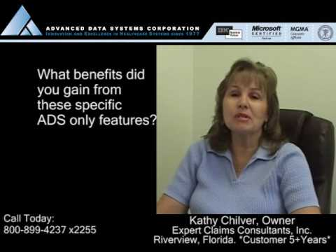 Kathy Chilver of Expert Claims Consultants talks about Advanced Data Systems and MedicsElite