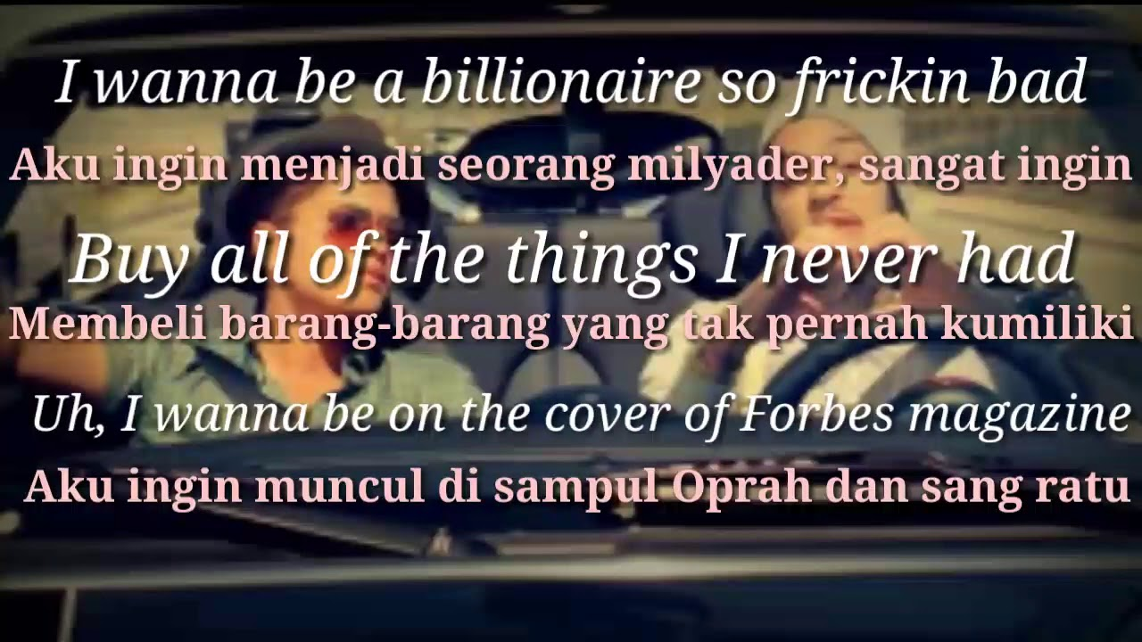 i wanna be a billionaire bruno mars official video