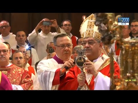 Napoli. Si ripete nel giorno di San Gennaro il prodigio della liquefazione del sangue