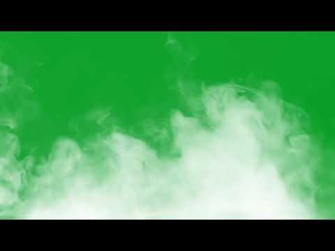 Футаж дым на зелёном фоне Хромакей