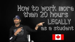 Gambar cover How To Work More Than 20 Hours Legally as a Student In Canada?