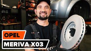 Como substituir discos de travão parte dianteira no OPEL MERIVA A [TUTORIAL AUTODOC]