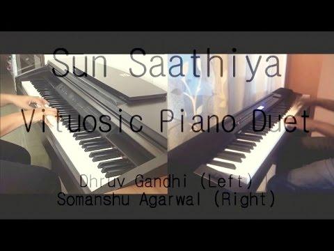 Sun Saathiya (ABCD 2) || Virtuosic PIANO COVER (Duet) -- Split Screen