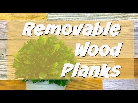 Removeable Wood Planks for Wall Decor! | Artis Wall Video | Apartment Friendly Decorating