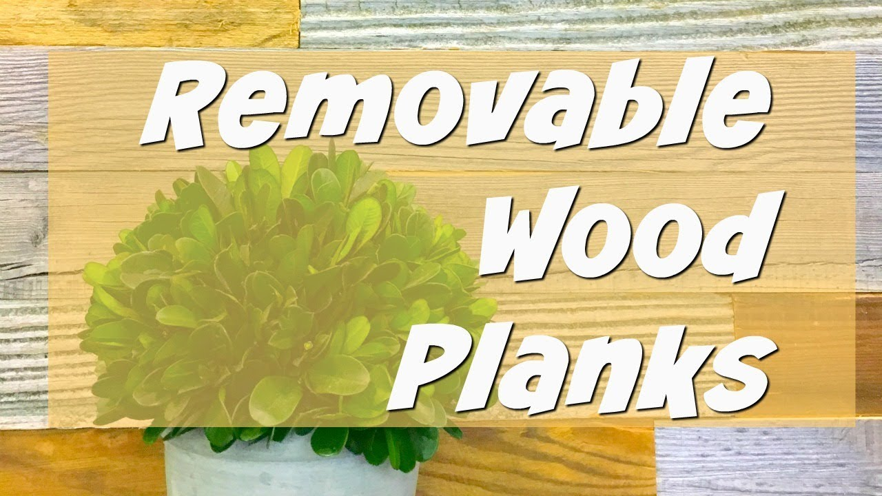 Removeable Wood Planks for Wall Decor! | Artis Wall - YouTube