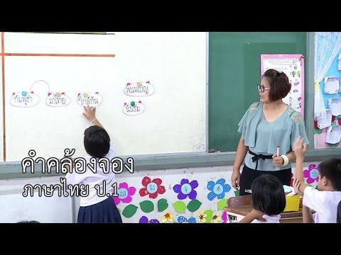 ภาษาไทย ป.1 คำคล้องจอง ครูยุวดี นุชทรัพย์