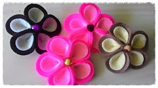 Tutorial craft handmade / kerajinan tangan dari kain flanel felt kali ini saya mencoba membuat bros bunga kamboja flanel..pastinya ala rangga...