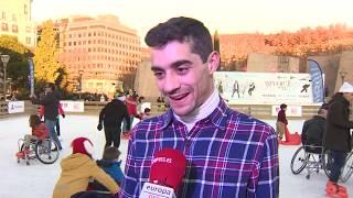 Javier Fernández participa en una jornada de patinaje inclusivo en Madrid