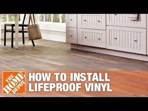 how-to-install-lifeproof-vinyl-flooring-|-the-home-depot