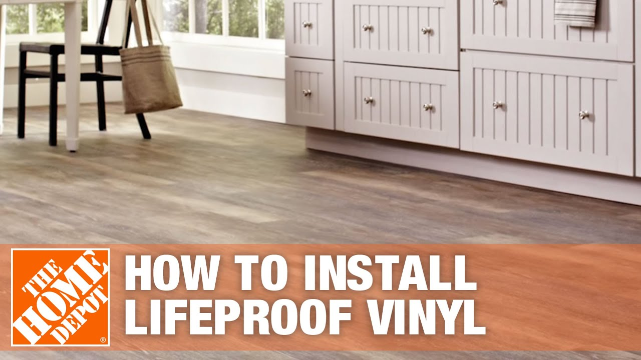 Plancher Home Depot How To Install Lifeproof Vinyl Flooring