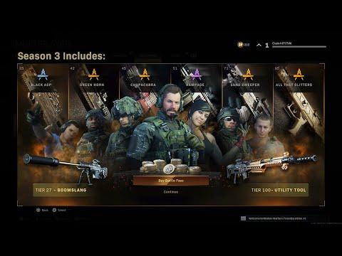Modern Warfare: Season 3 Battle Pass Showcase! (Update 1.19)