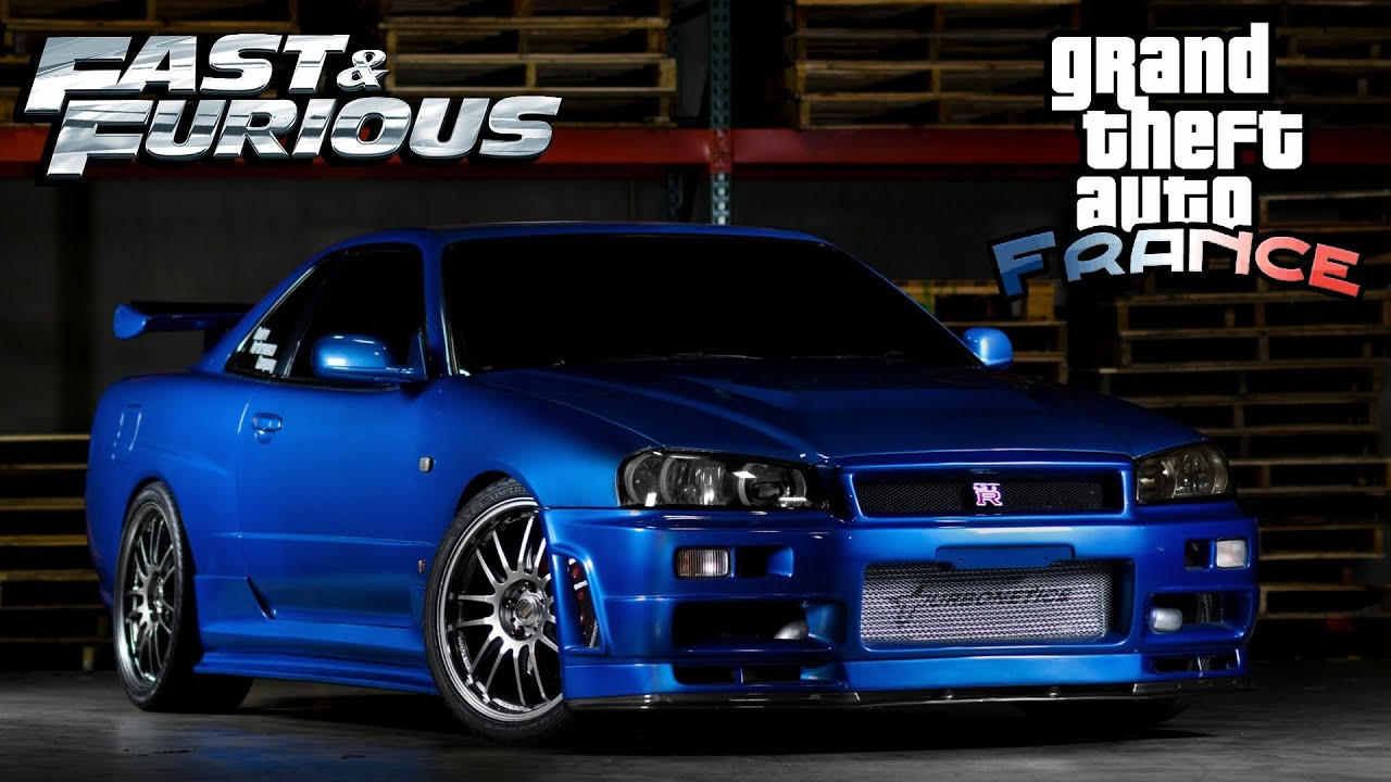 gta fast and furious nissan skyline gtr r34 custom tuned. Black Bedroom Furniture Sets. Home Design Ideas