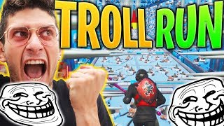 PARKOUR TROLL RUN SU FORTNITE !! AIUTATEMI