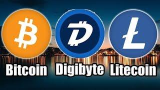 Media BOOSTING Bitcoin | $100 Million Liquidations | Litecoin Power Lunch | Digibyte Eyeing Target