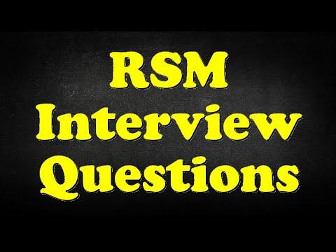 RSM Interview Questions