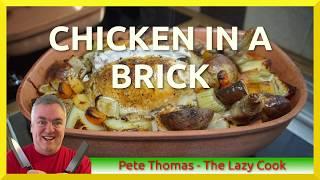Chicken in a Brick - Römertopf Gebackenes Huhn