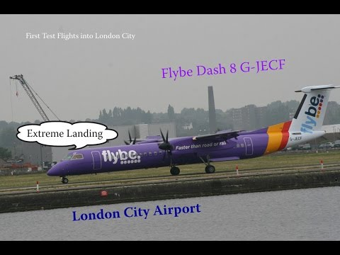 Flybe Purple Dash8 G-JECF London City Airport