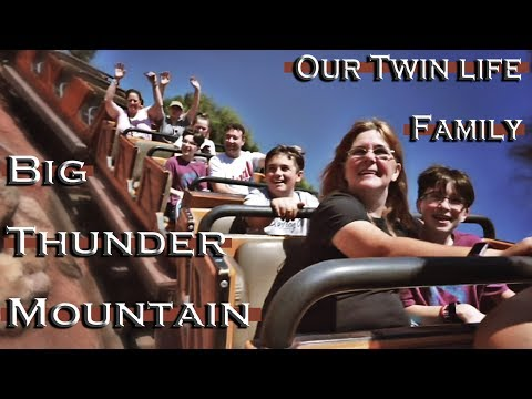 Riding Big Thunder Disneyland with OUR TWIN LIFE FAMILY