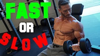 Fast vs Slow Reps: Which is Better for Muscle Growth?