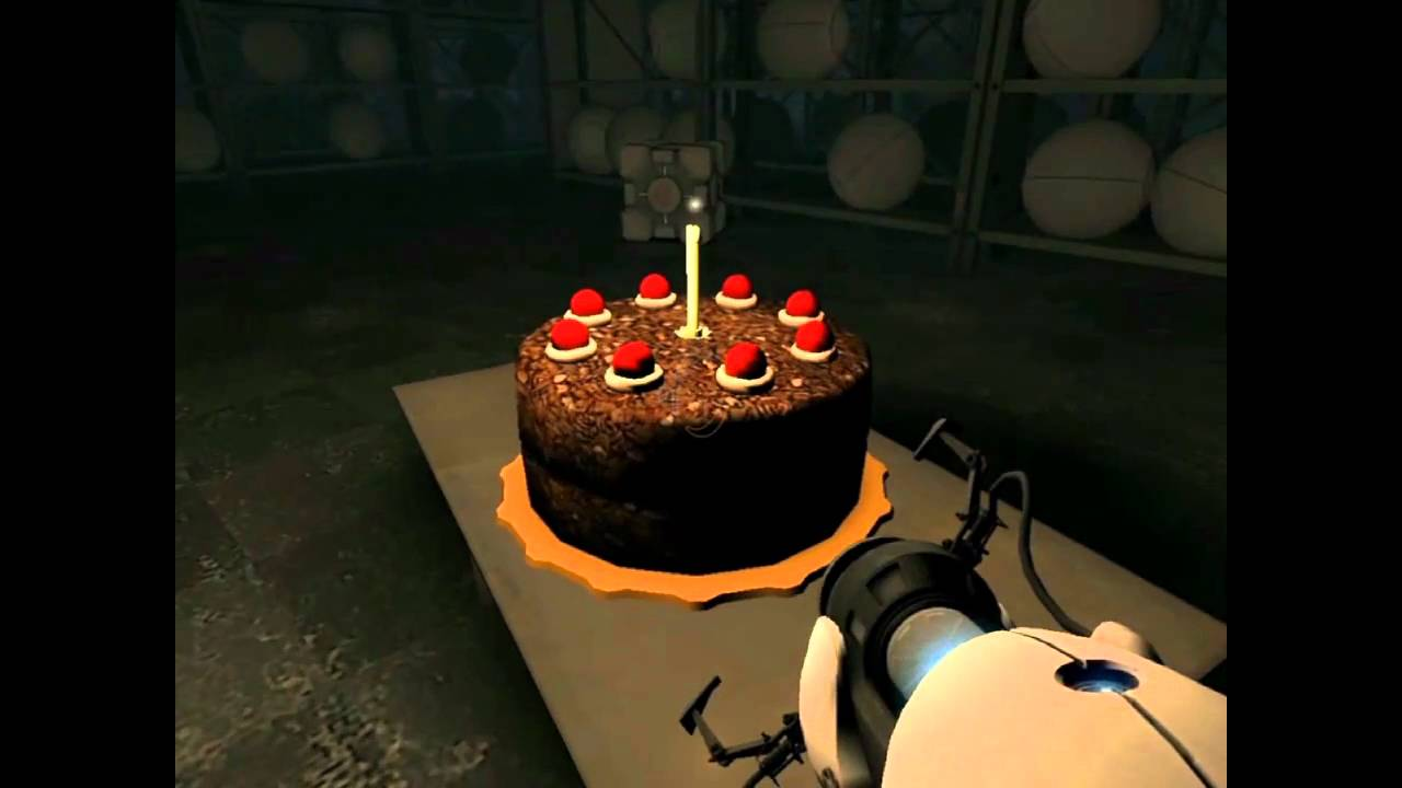 Finding The Cake In Portal With Somewhat Fitting Quotes From Glados