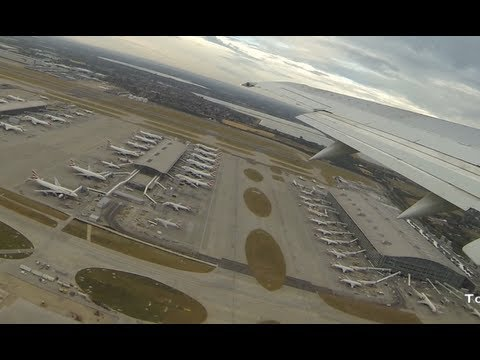 Takeoff from London Heathrow Airport amazing view of  Europe Busiest  hub