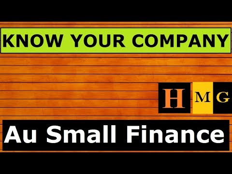 Au Small Finance Bank. (Hindi) |  Know Your Company by Markets Guruji